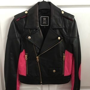 Juicy couture real leather jacket